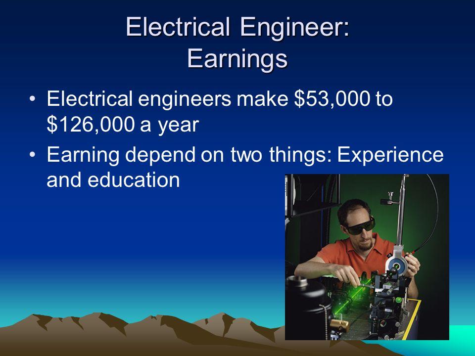 Electrical Engineer: Earnings