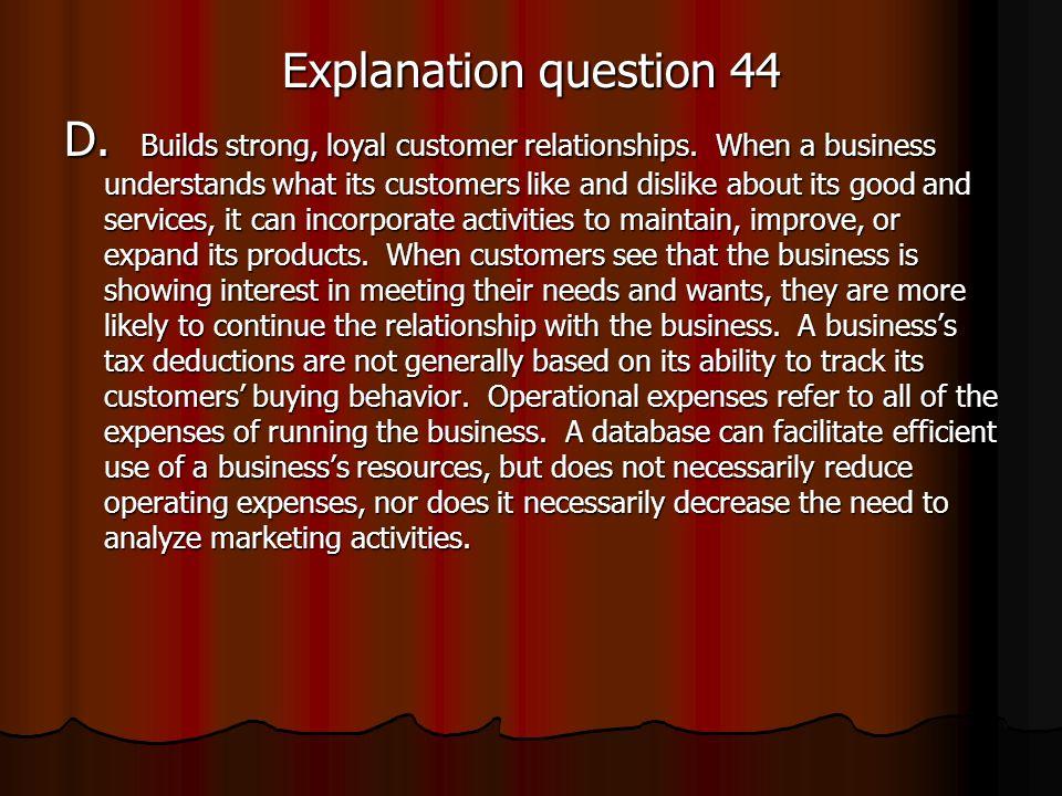 Explanation question 44