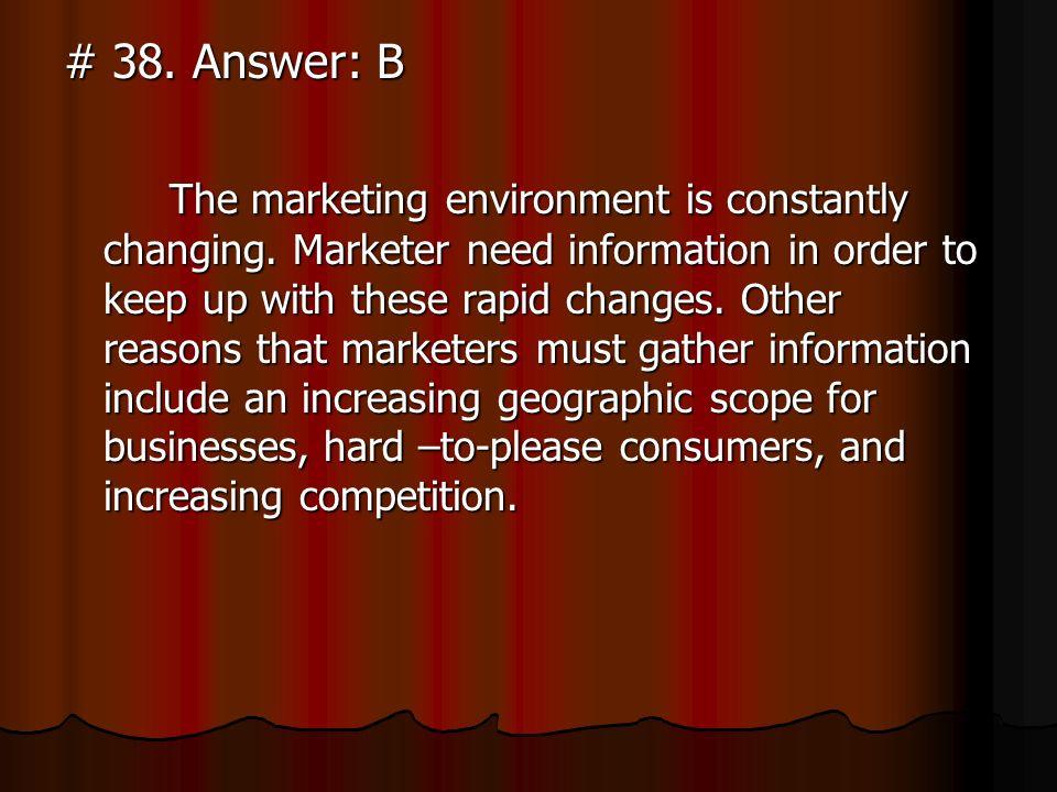# 38. Answer: B