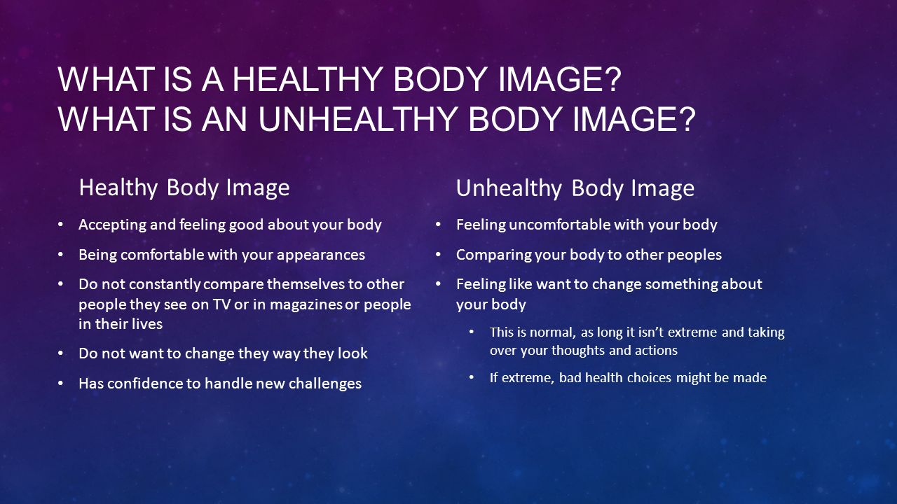 What is a healthy body image What is an unhealthy body image
