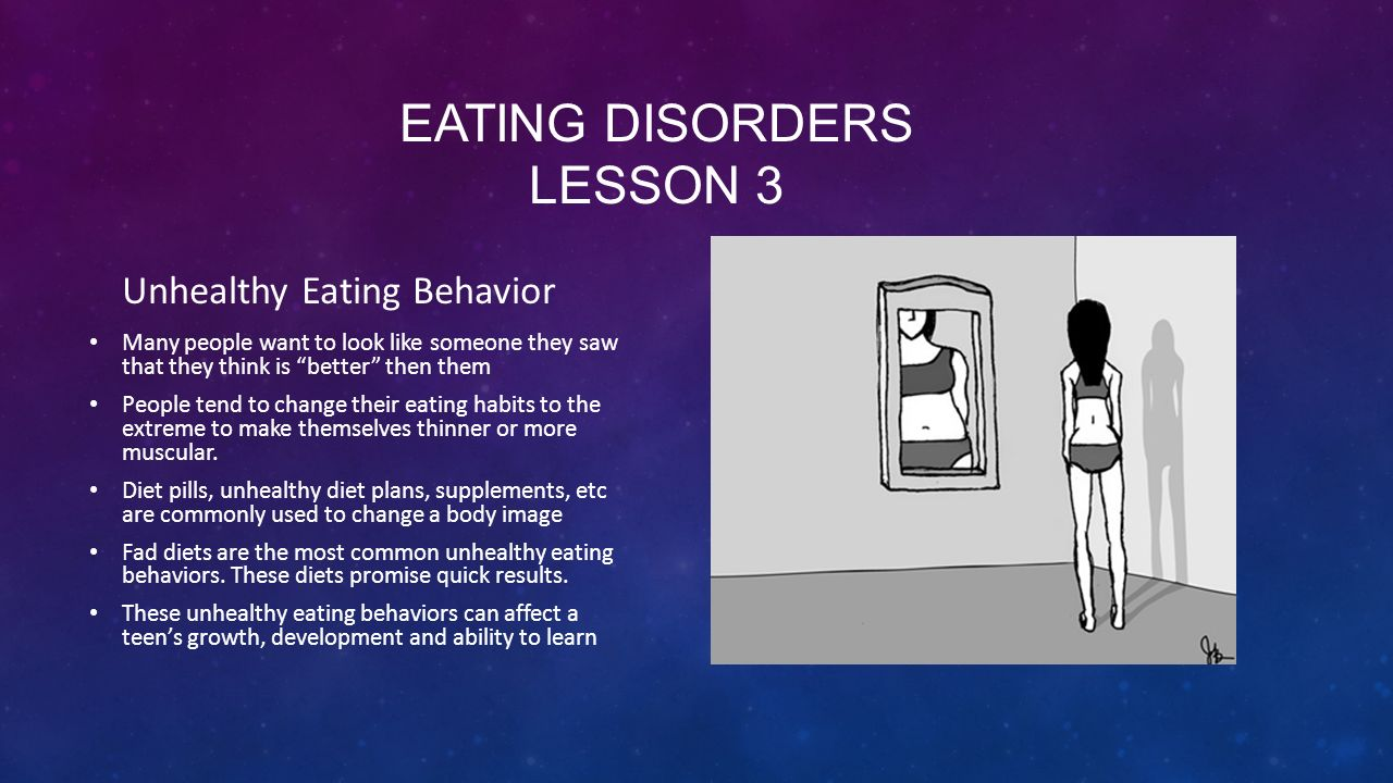 Eating disorders lesson 3