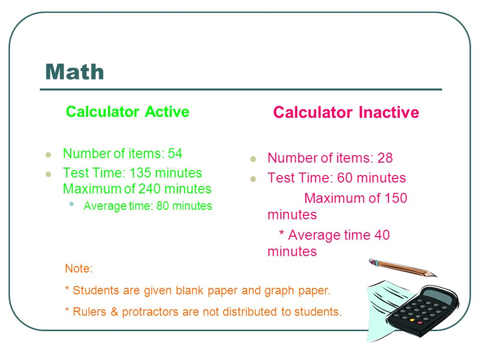 Math Calculator Inactive Calculator Active Number of items: 28