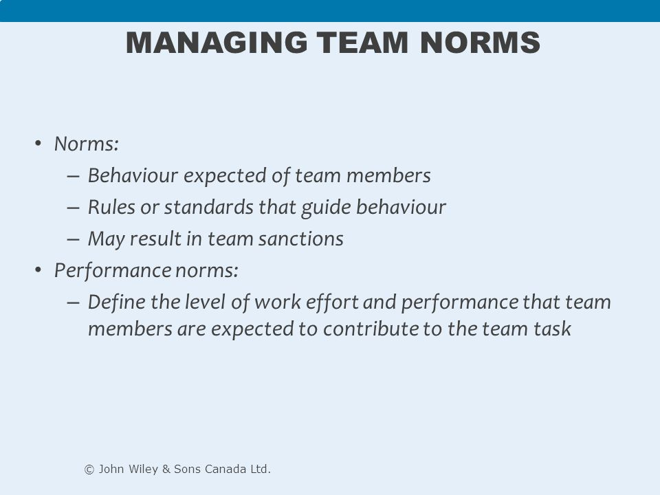 team management and behaviour Safe, effective behavior management training and techniques provide  without  this key ability, team members may react instinctively or.