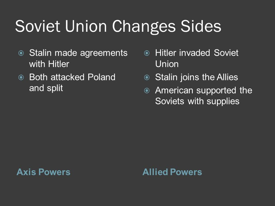 Soviet Union Changes Sides