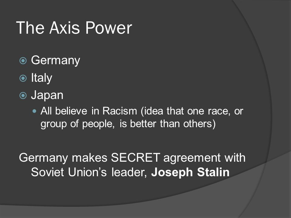 The Axis Power Germany Italy Japan