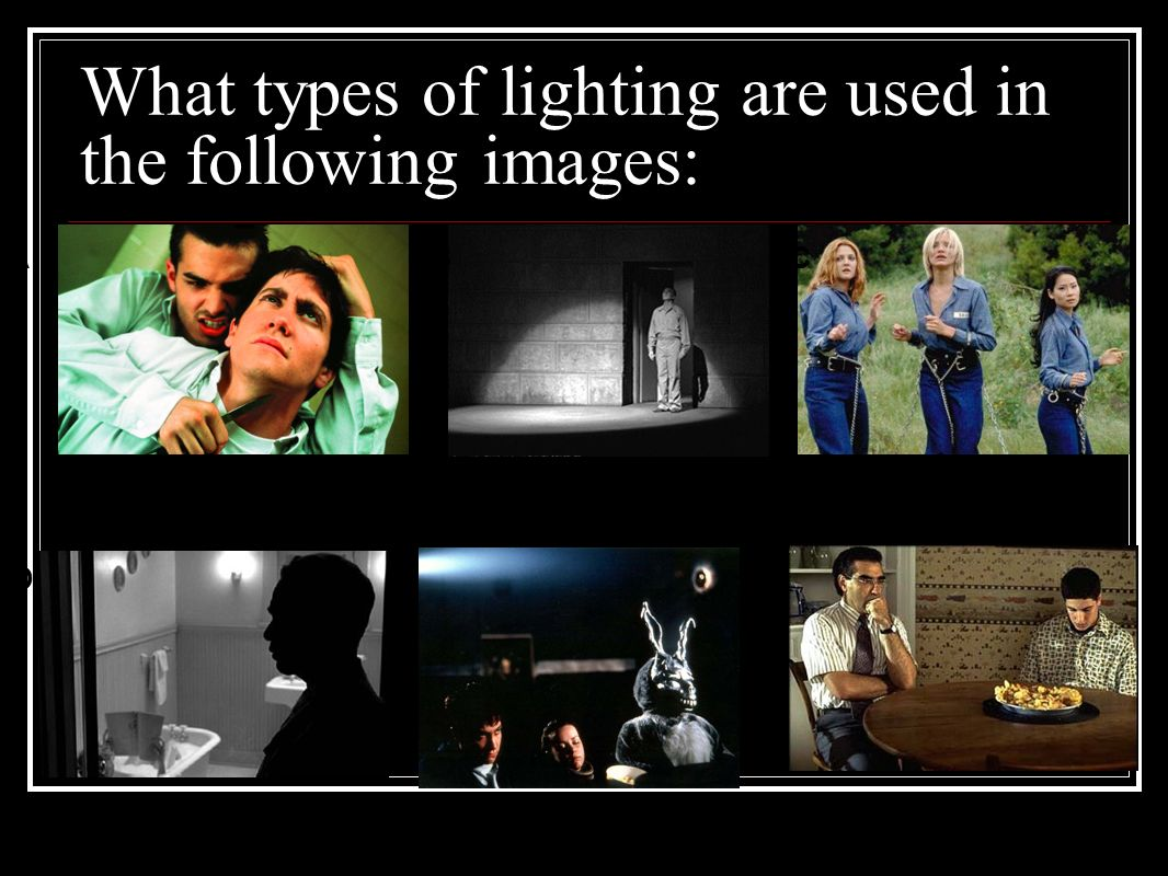 What types of lighting are used in the following images  sc 1 st  SlidePlayer & I. Types of Film. - ppt video online download azcodes.com