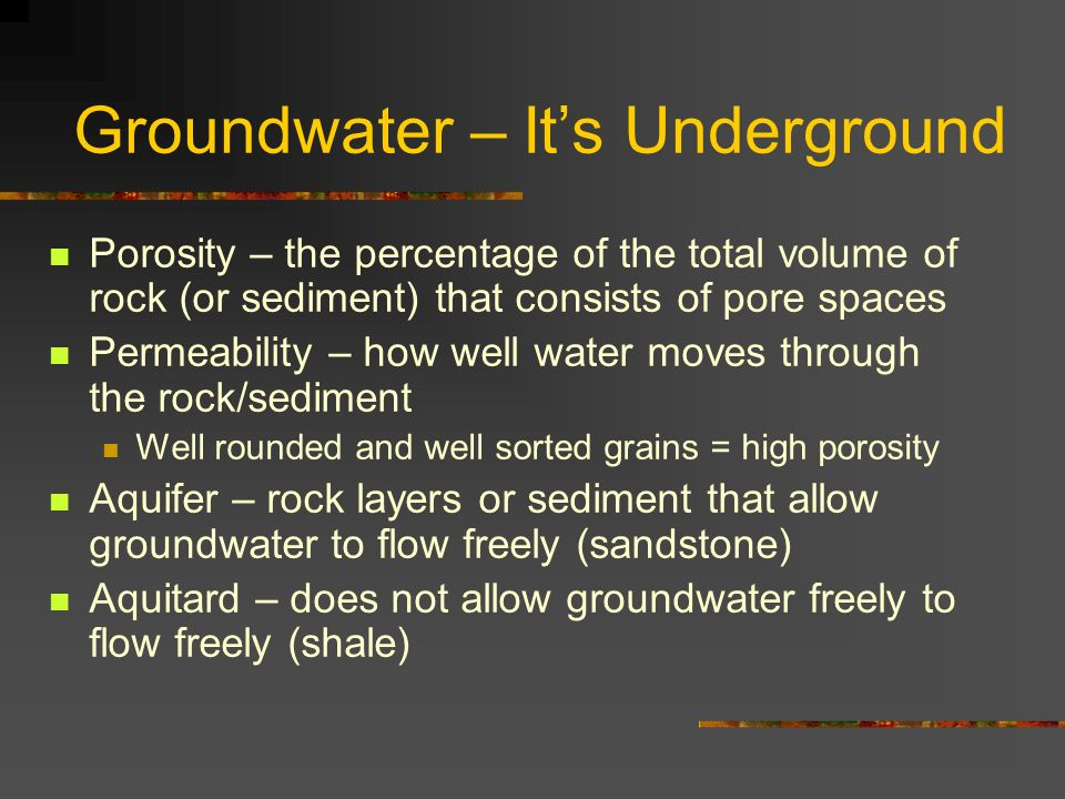 Groundwater – It's Underground