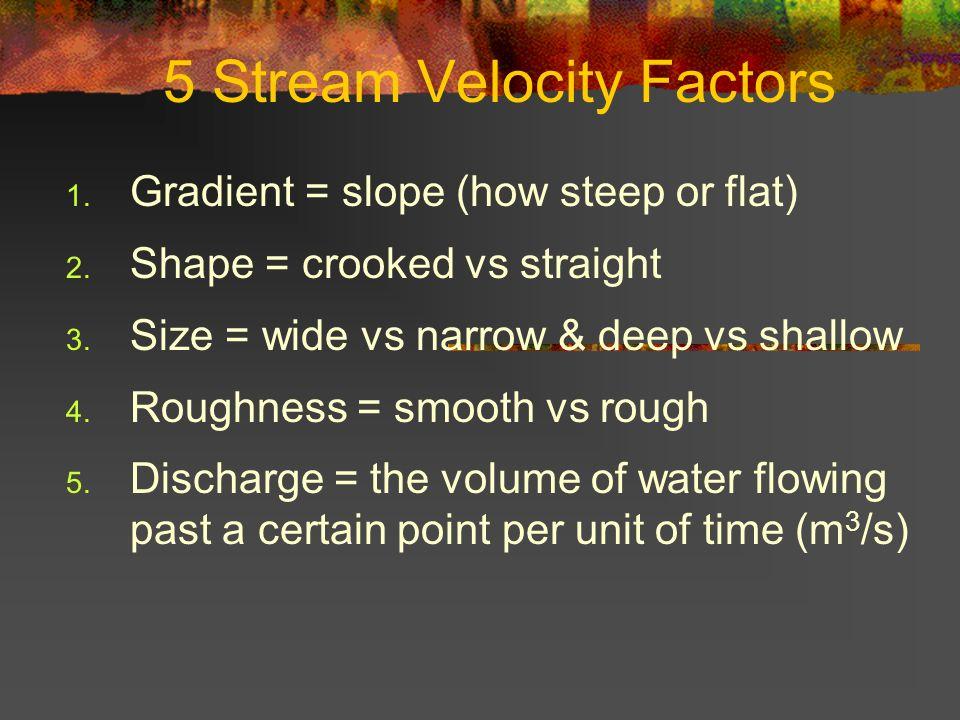 5 Stream Velocity Factors