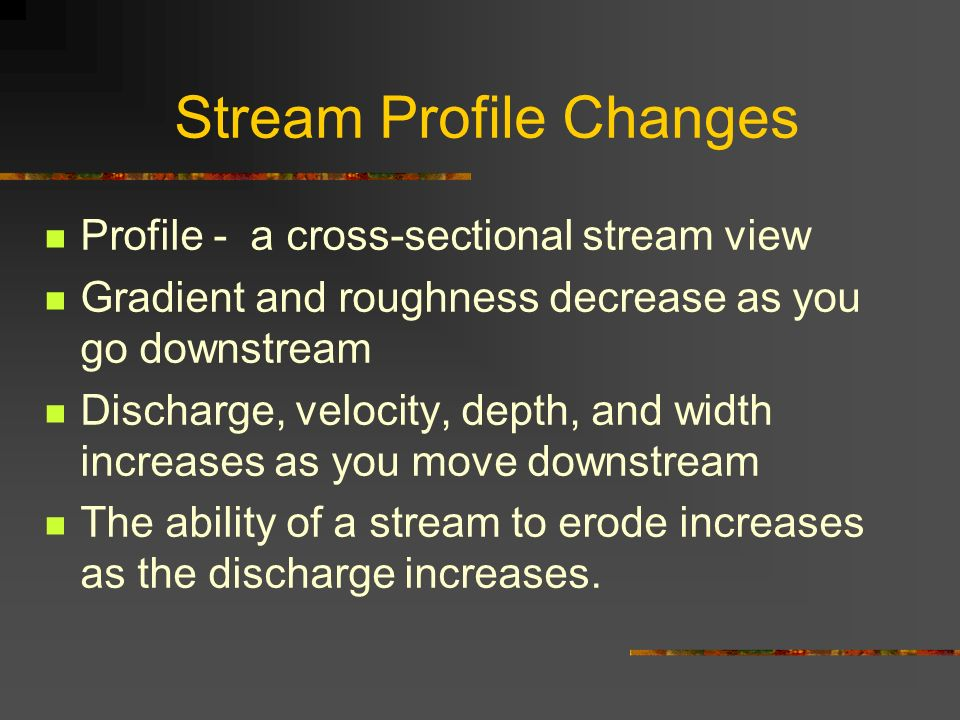 Stream Profile Changes
