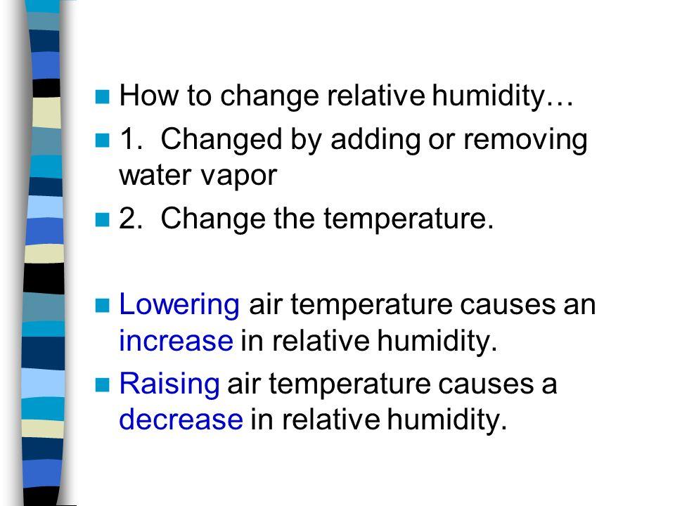 How to change relative humidity…