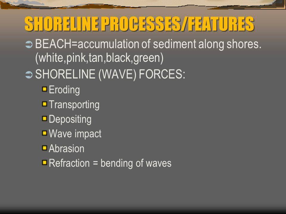 SHORELINE PROCESSES/FEATURES