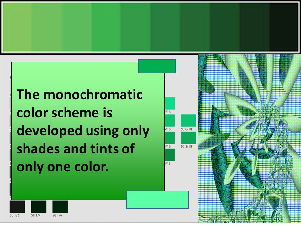 Monochromatic Color Scheme Definition monochromatic colors objective: you will learn how to mix