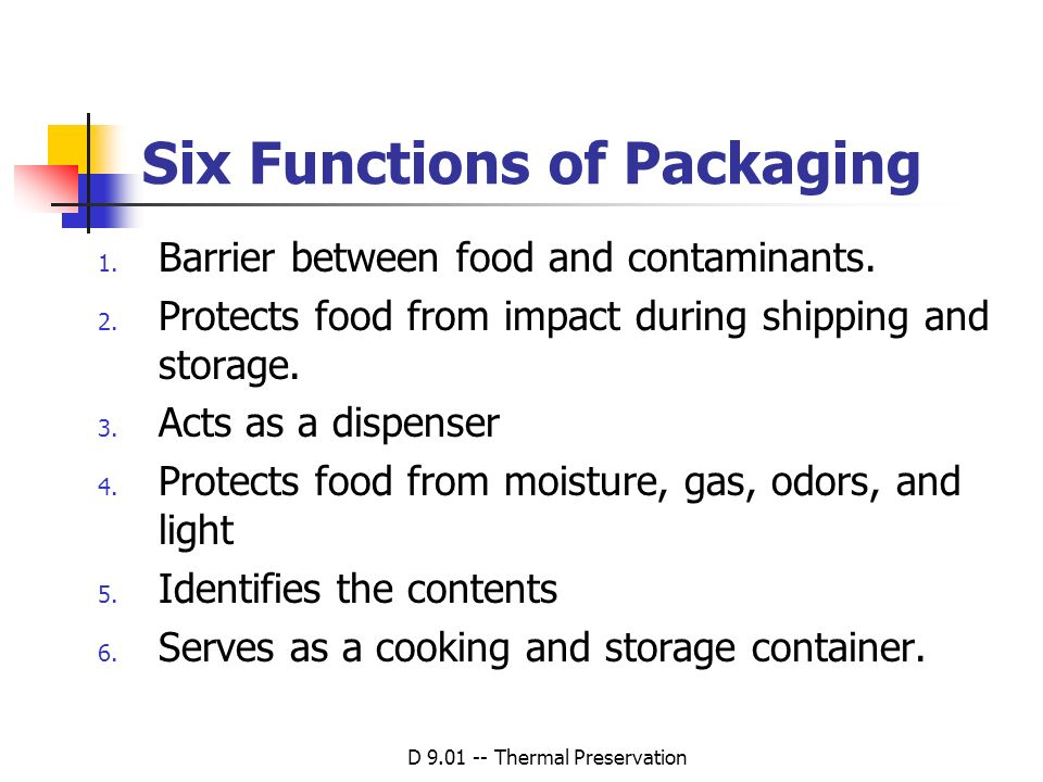 Six Functions of Packaging