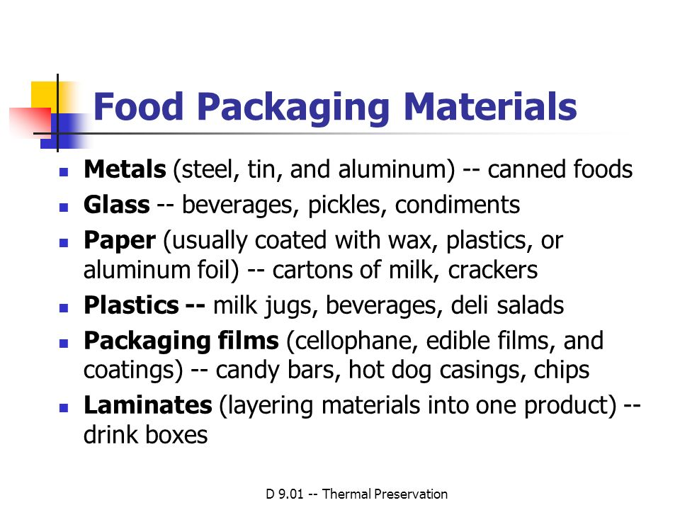 Food Packaging Materials