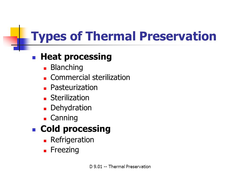 Types of Thermal Preservation