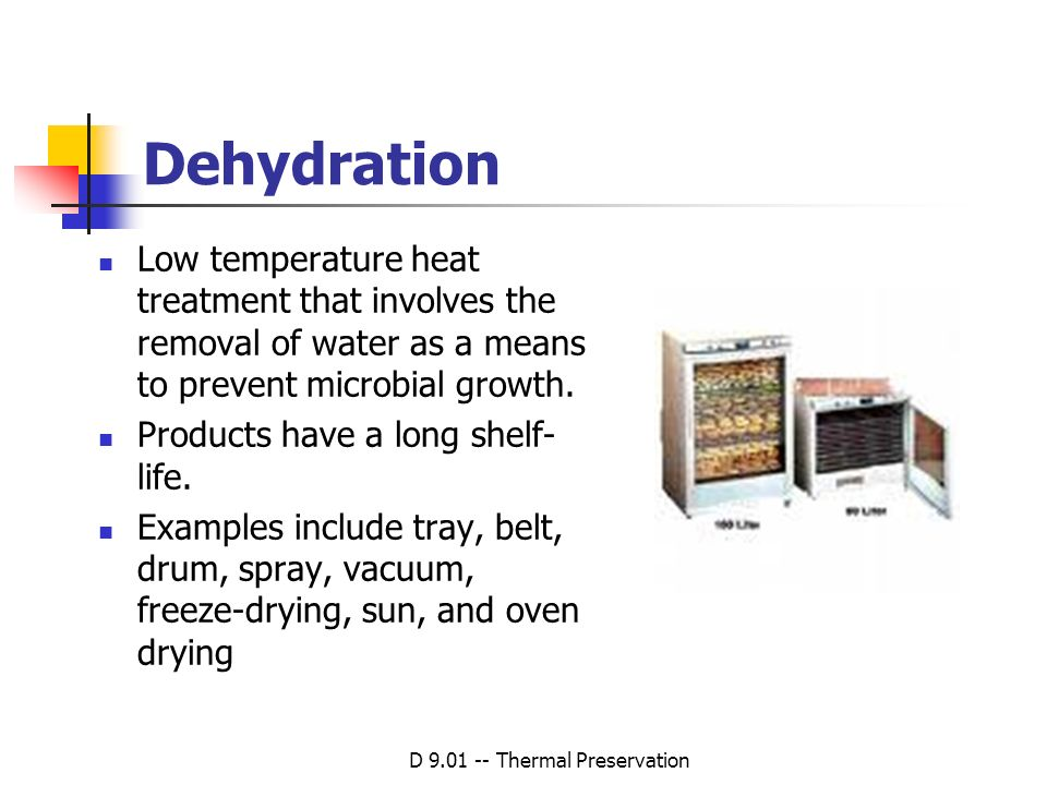 D 9.01 -- Thermal Preservation