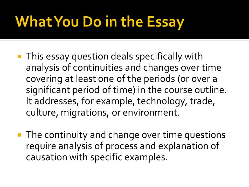significant event essays