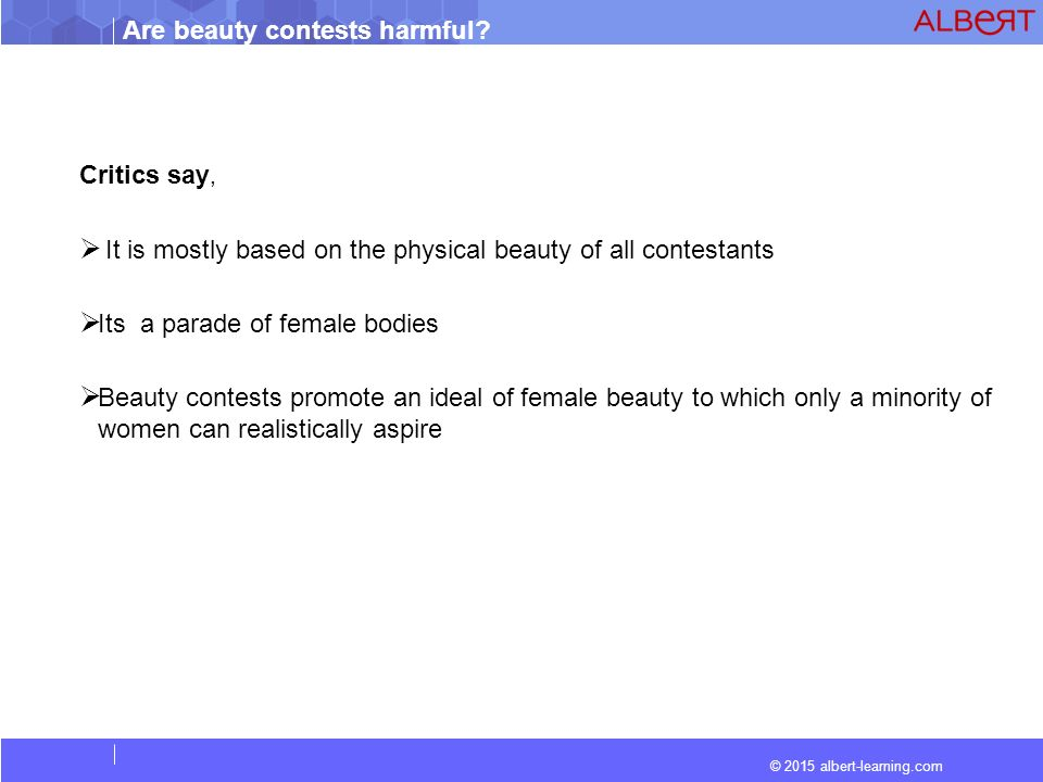 are beauty contests harmful ppt video online  critics say it is mostly based on the physical beauty of all contestants its