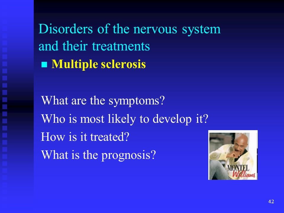 Disorders of the nervous system and their treatments