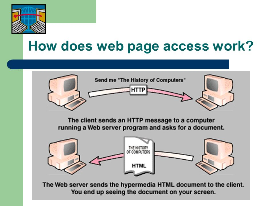 How does web page access work