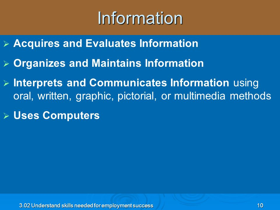 Information Acquires and Evaluates Information