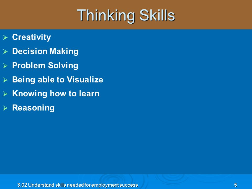 Thinking Skills Creativity Decision Making Problem Solving