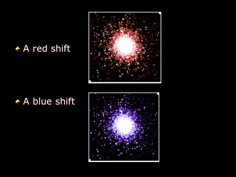 A red shift A blue shift