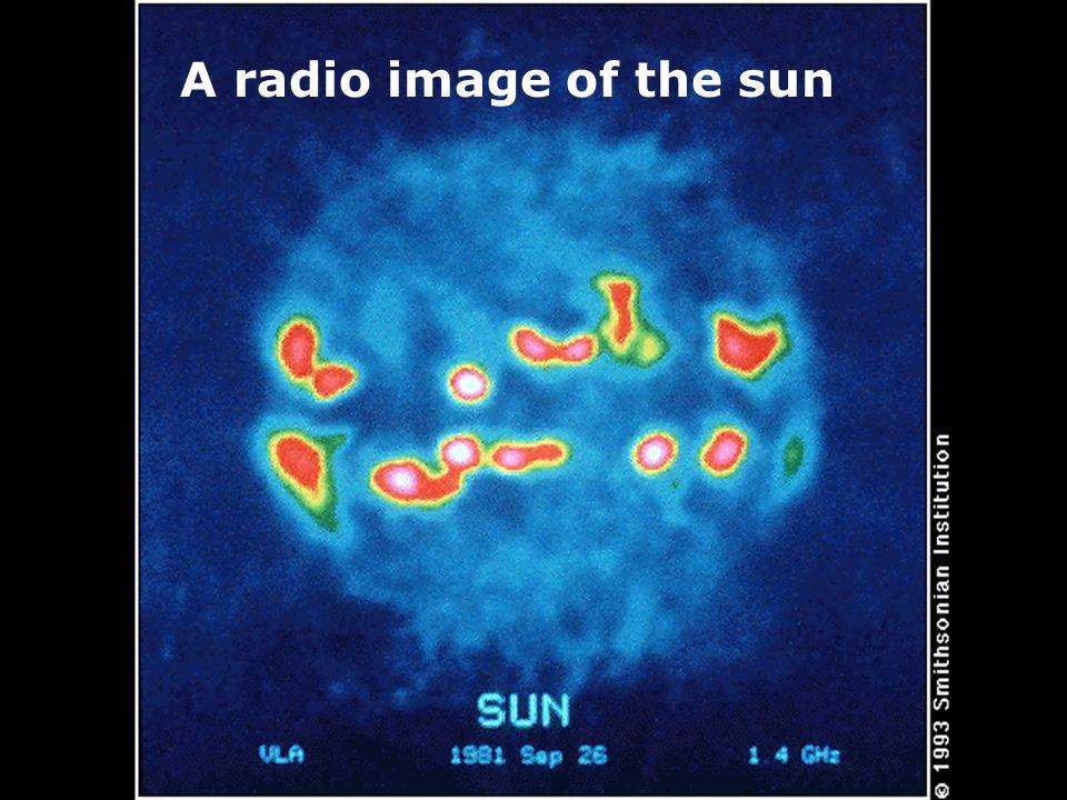 A radio image of the sun