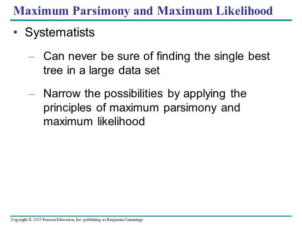 Maximum Parsimony and Maximum Likelihood