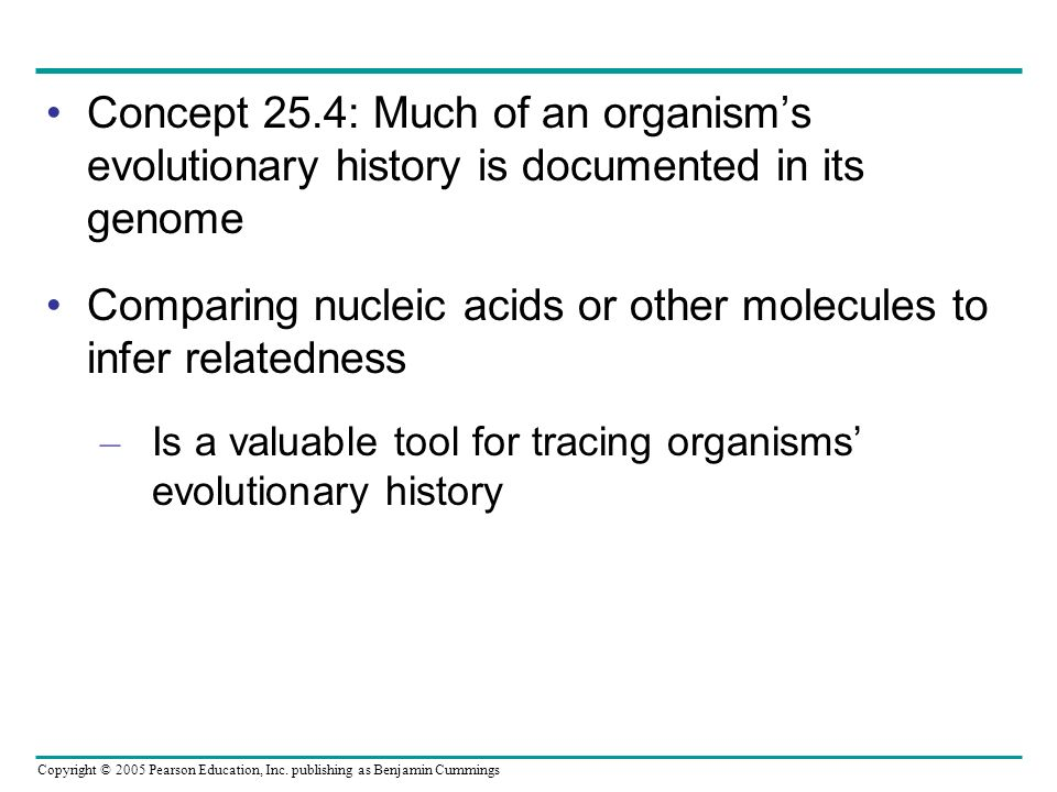 Comparing nucleic acids or other molecules to infer relatedness