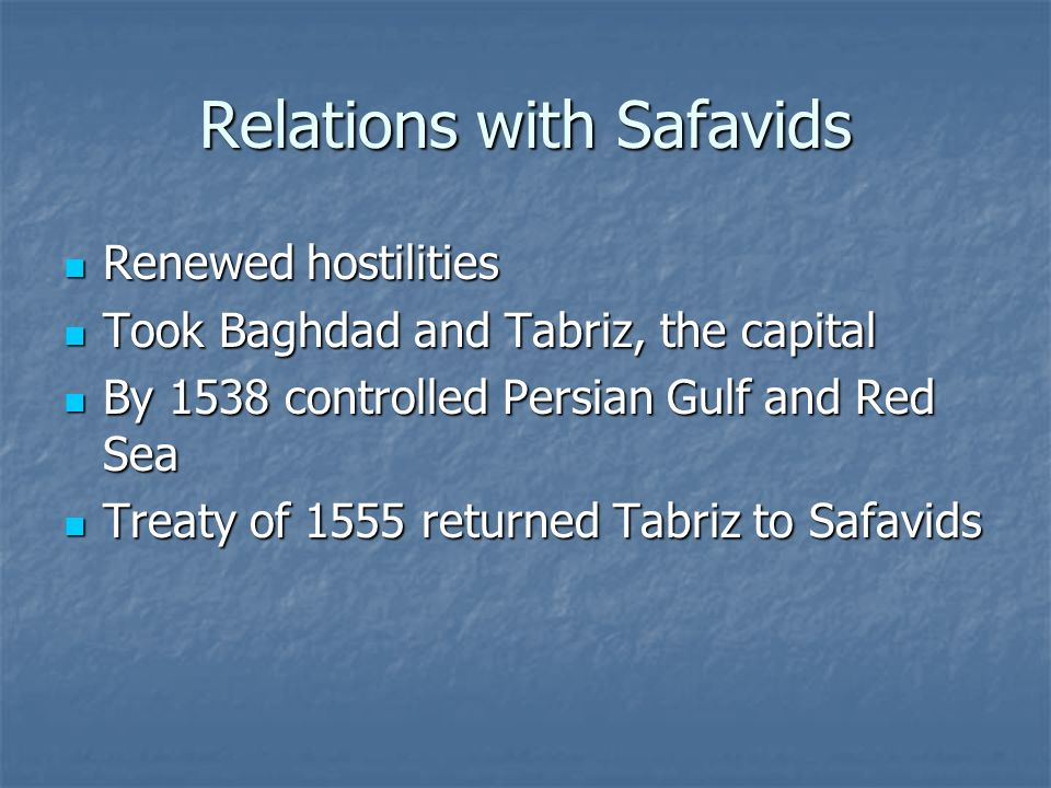 Relations with Safavids
