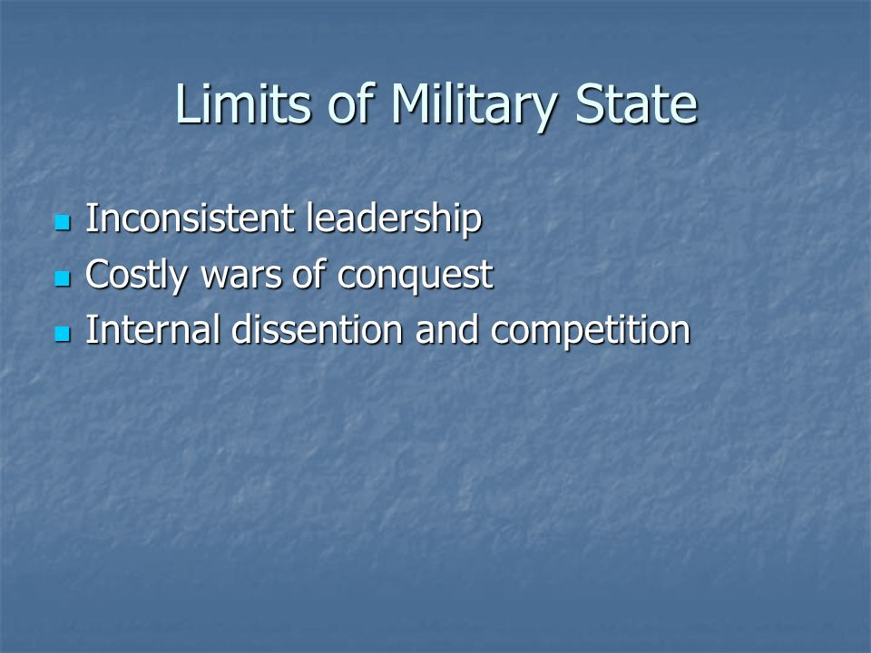 Limits of Military State