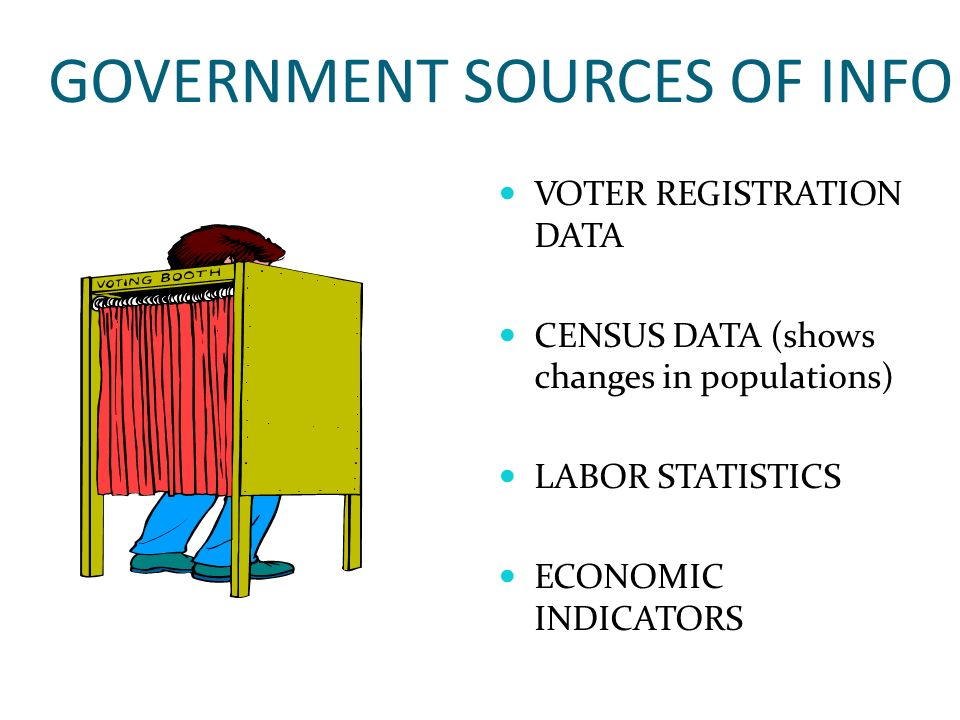 GOVERNMENT SOURCES OF INFO