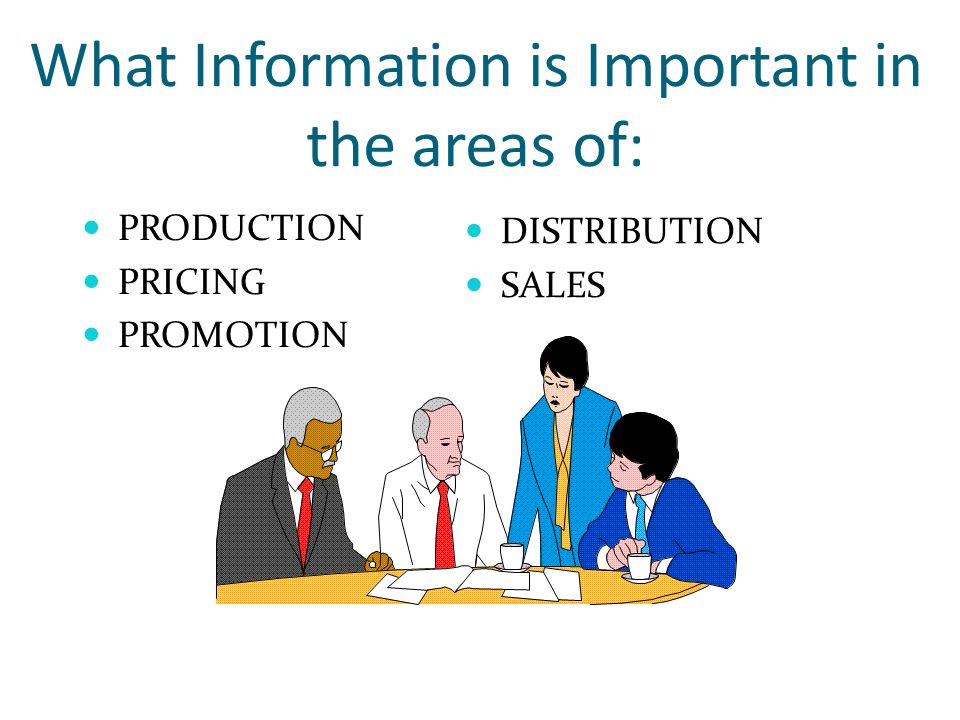 What Information is Important in the areas of: