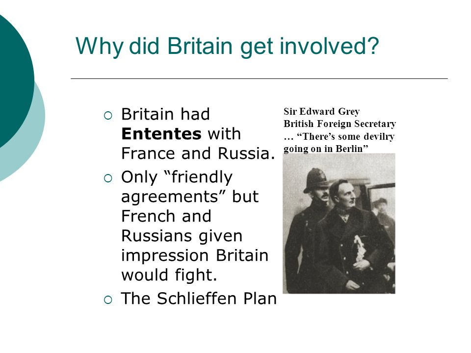 Why did Britain get involved