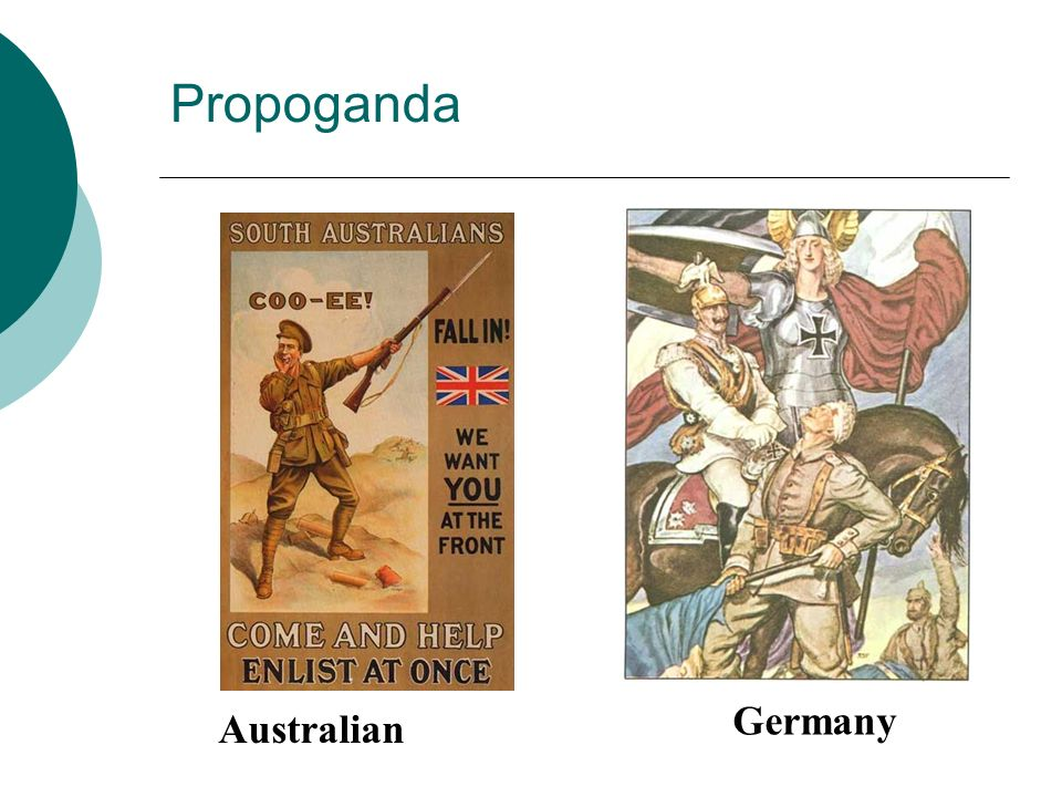 Propoganda Germany Australian