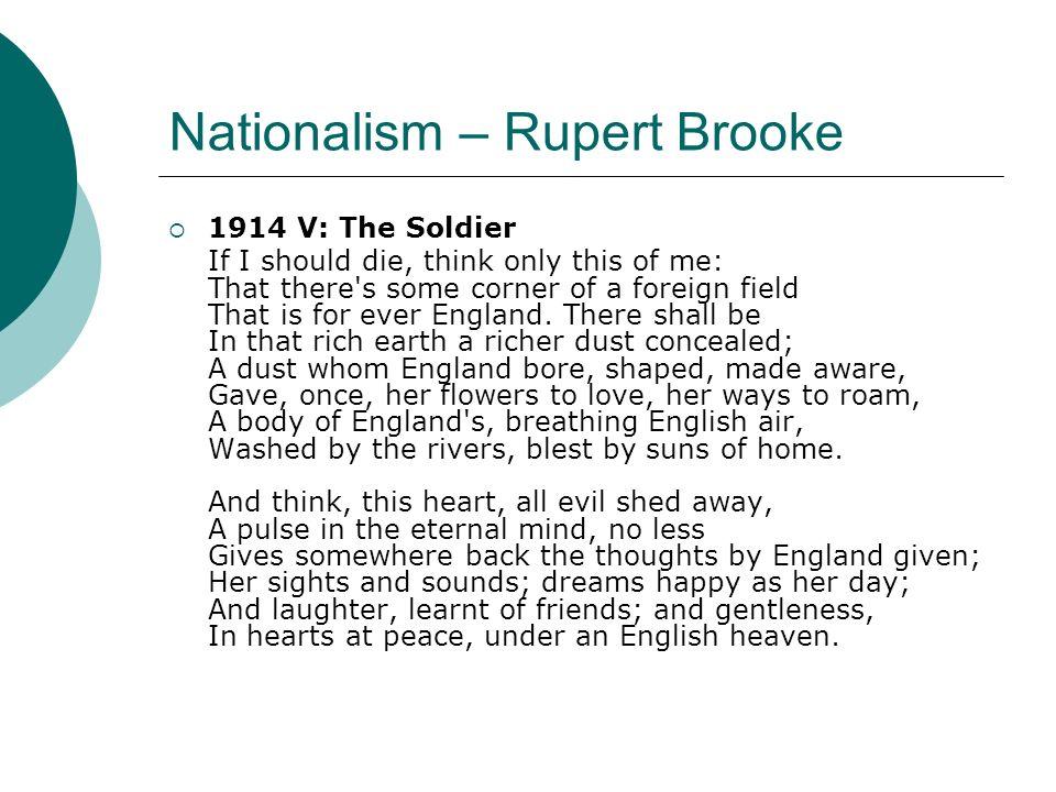 Nationalism – Rupert Brooke