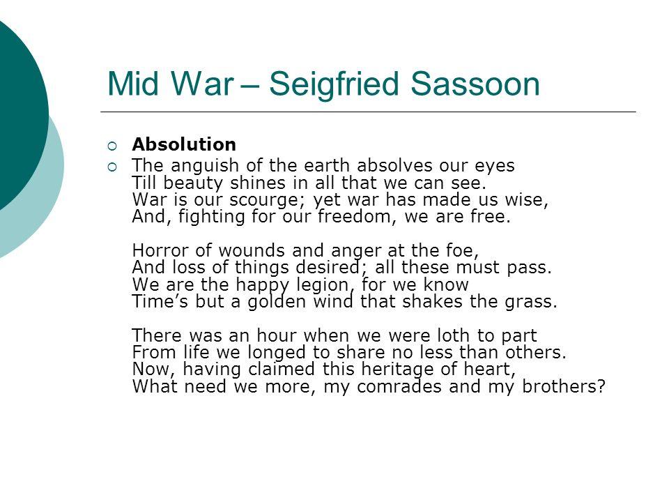Mid War – Seigfried Sassoon
