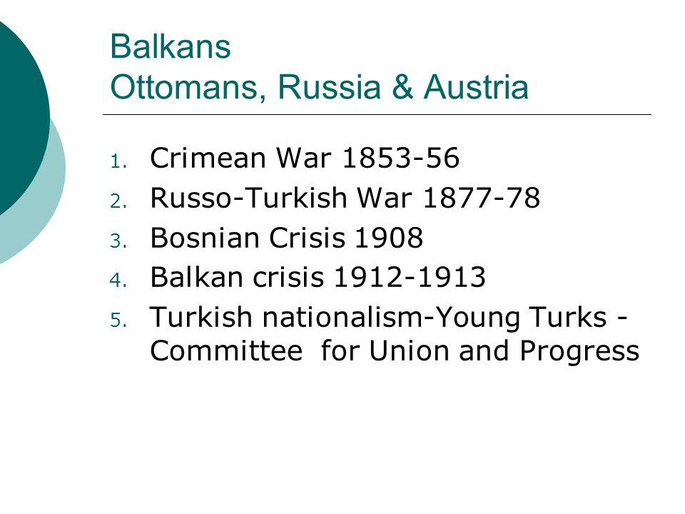 Balkans Ottomans, Russia & Austria