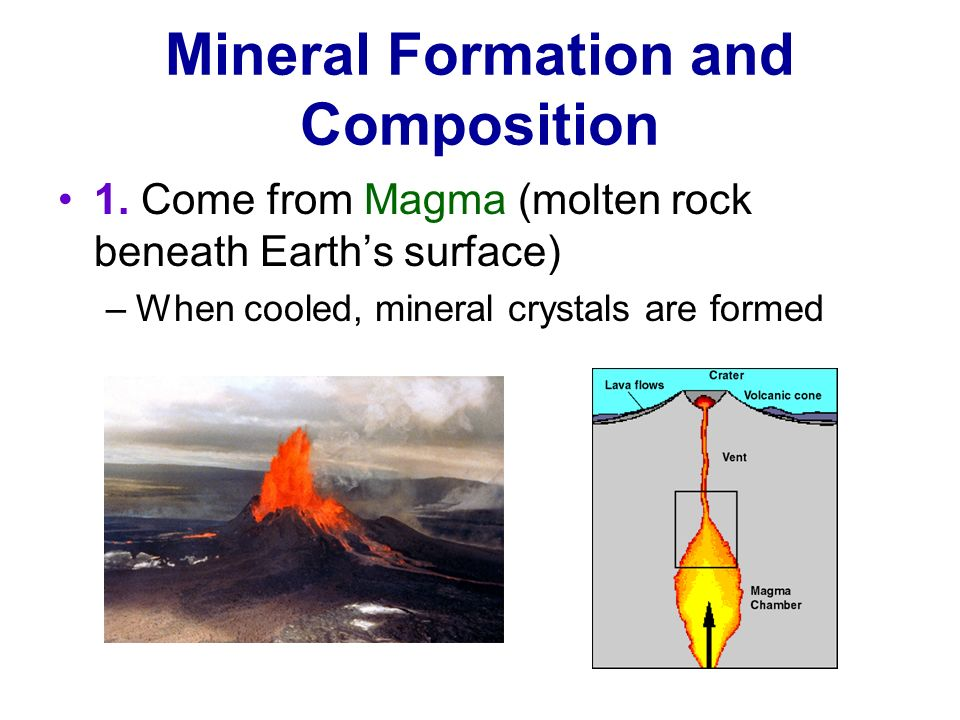 Mineral Formation and Composition