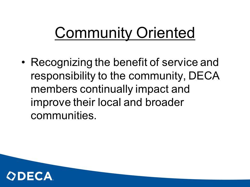 Community Oriented
