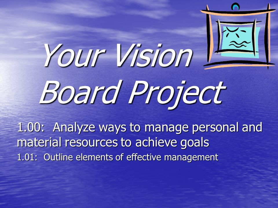 Your Vision Board Project