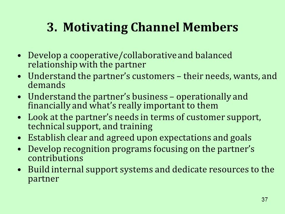 3. Motivating Channel Members