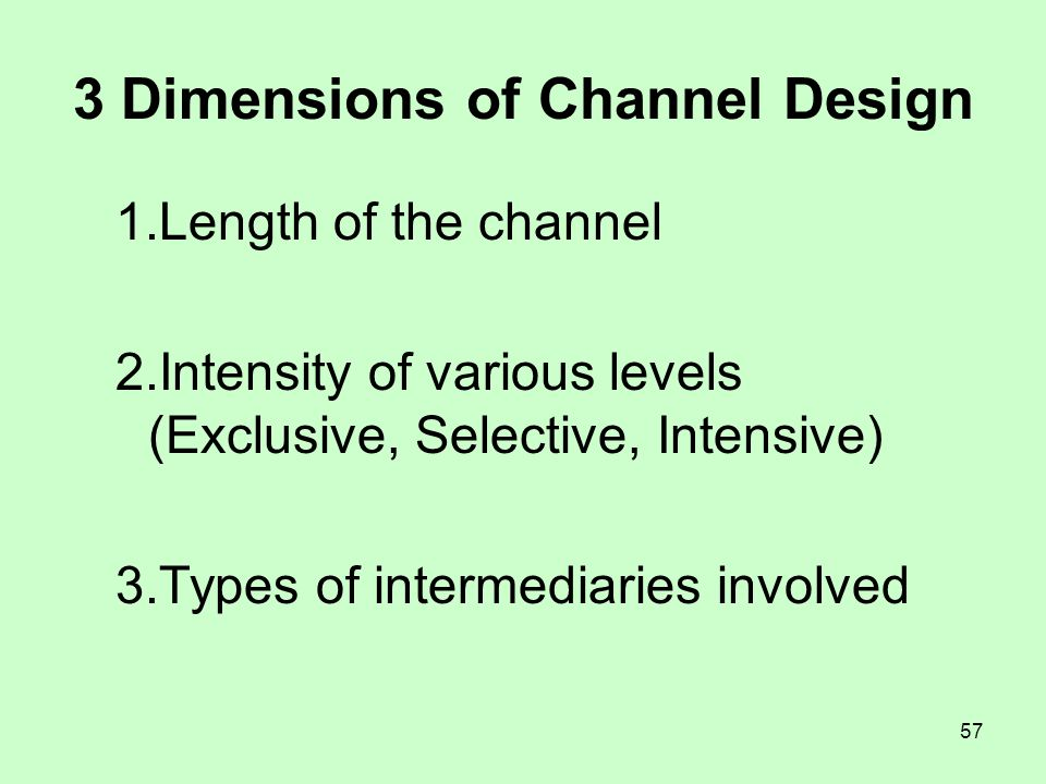 3 Dimensions of Channel Design