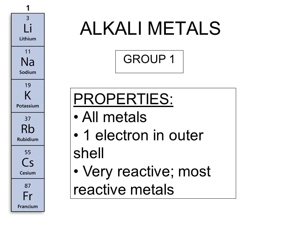 periodic table reactivity in a group periodic table trends in the periodic table ppt - Periodic Table Alkali Metals Reactivity