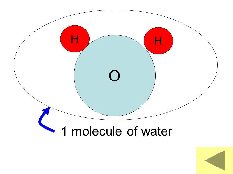O H 1 molecule of water