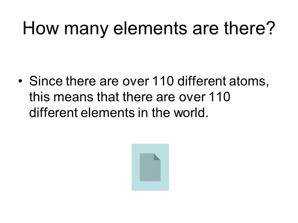 How many elements are there