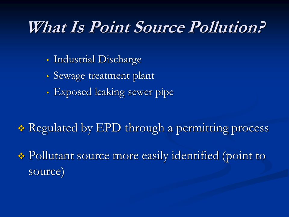 What Is Point Source Pollution