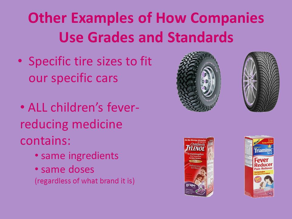 Other Examples of How Companies Use Grades and Standards