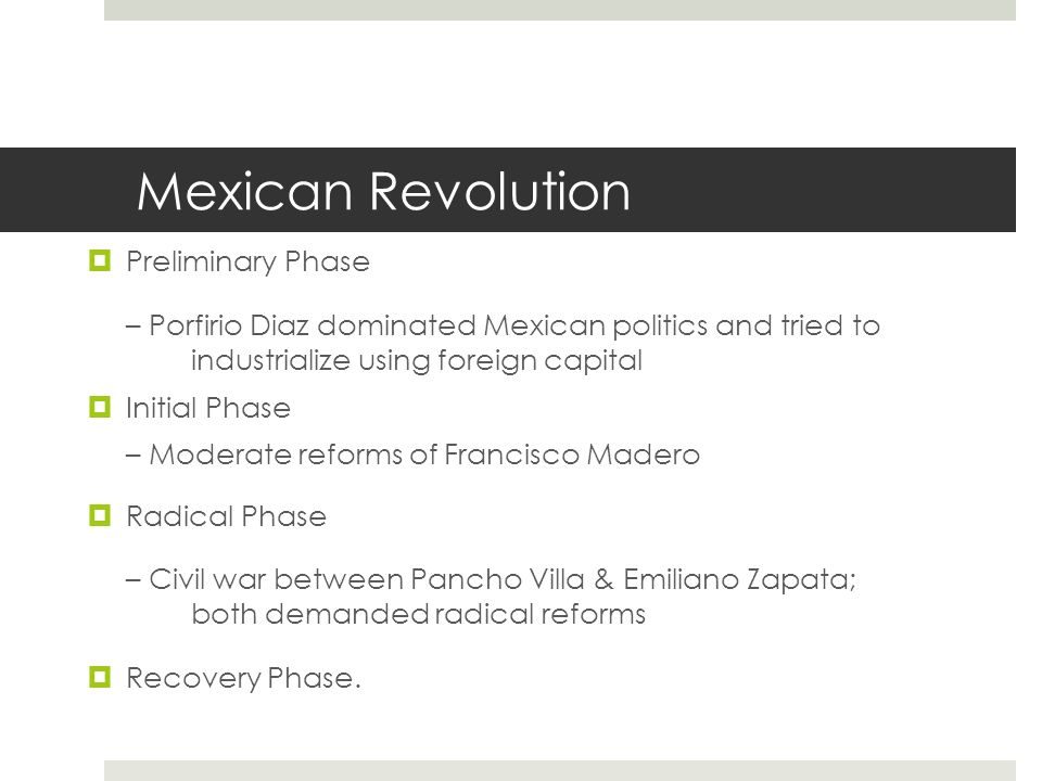 Mexican Revolution Preliminary Phase